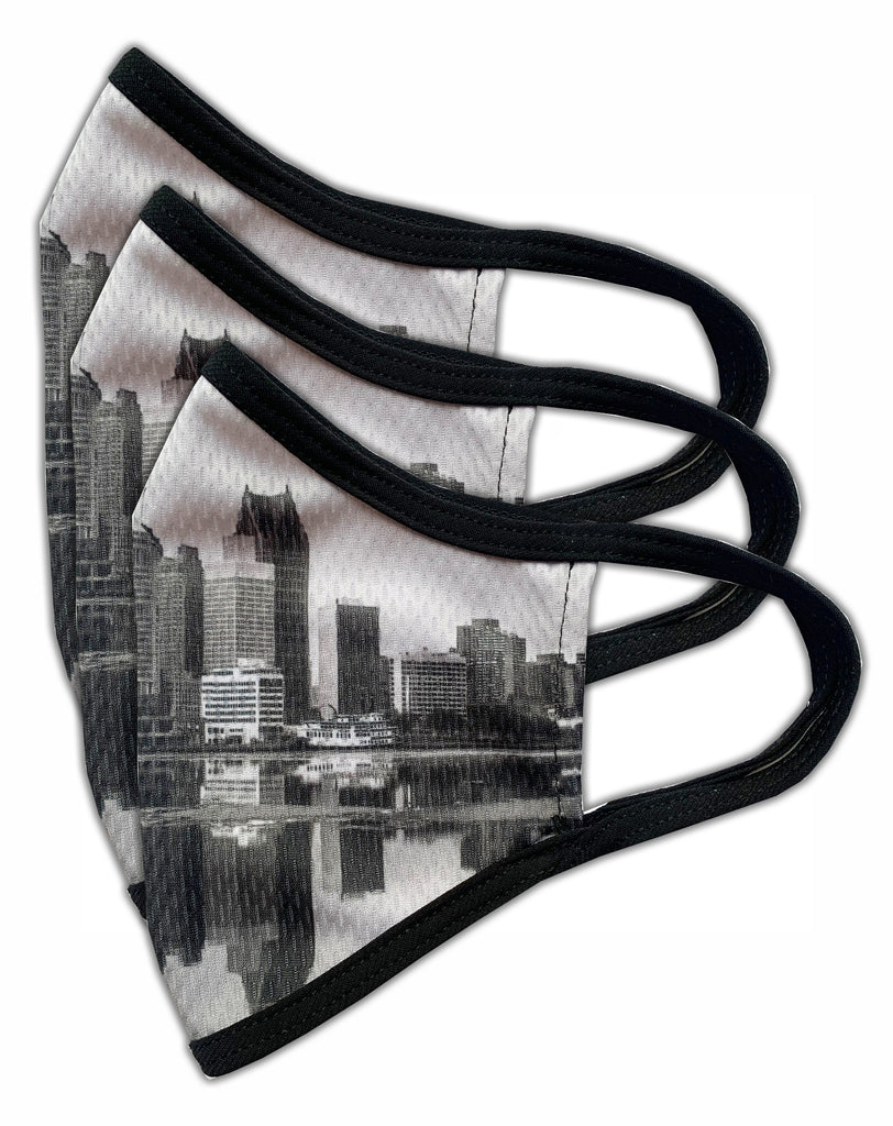 Detroit Skyline Face Mask (Pack of 3)