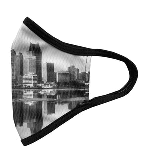 Detroit Skyline Printed Face Mask