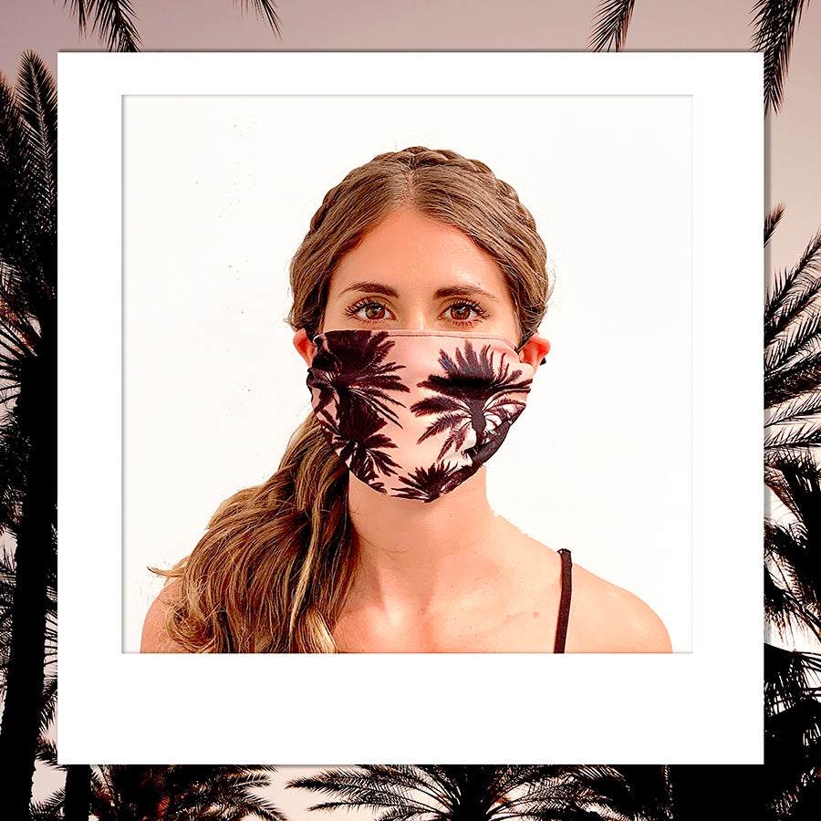 Los Angeles Printed Palm Tree Face Mask