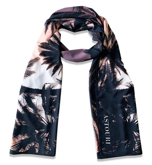 "82"" x 28"" Extra Large Los Angeles Palm Tree Printed Scarf"