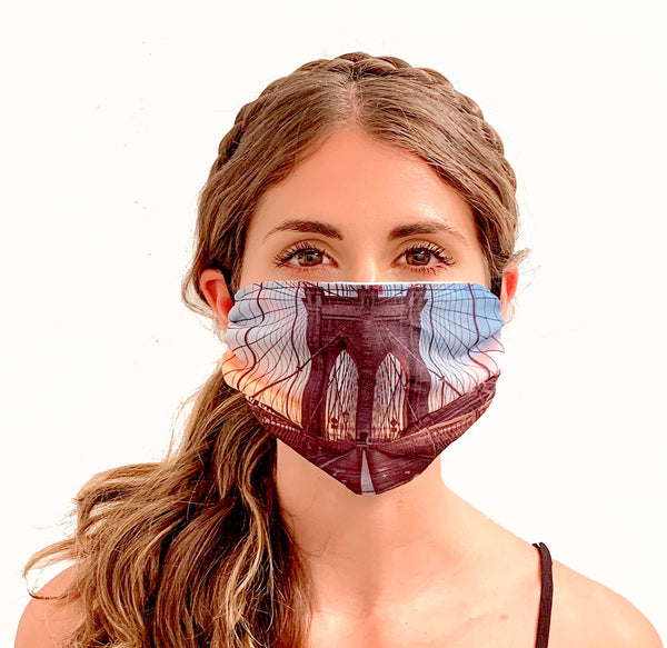NYC (Brooklyn Bridge) Printed Face Mask