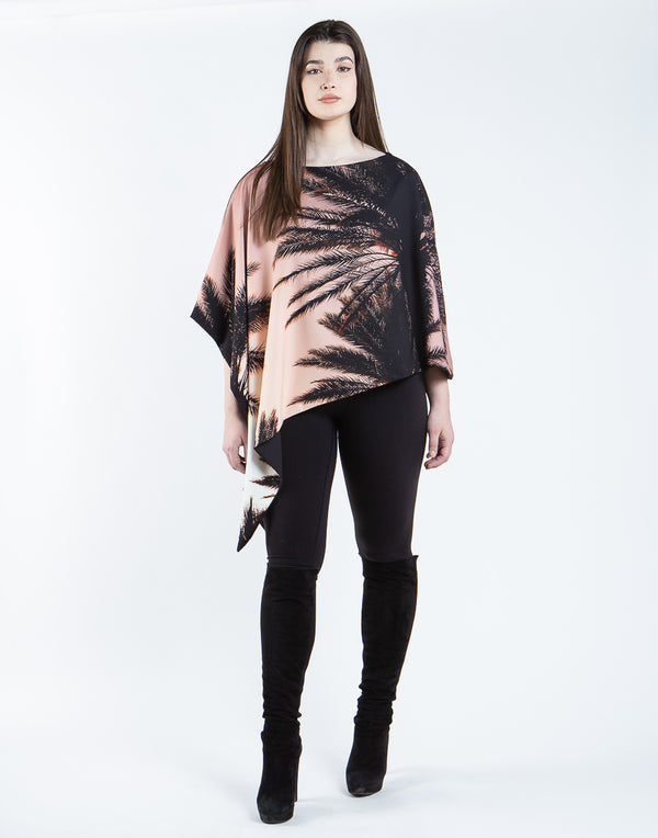 Los Angeles Reversible Printed Poncho