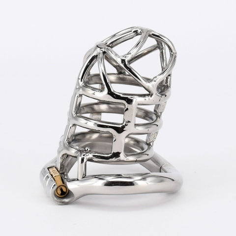 Male Stainless Steel Chastity Device Metal Cock Cage
