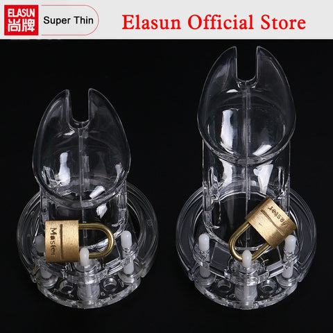 1 Set Plastic Male Chastity Device With Size Penis Ring Cock Cages