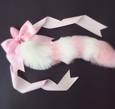 "28"" Silicone Cat & Fox Tail Plug"