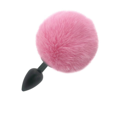 Rabbit Tail Pink Plug