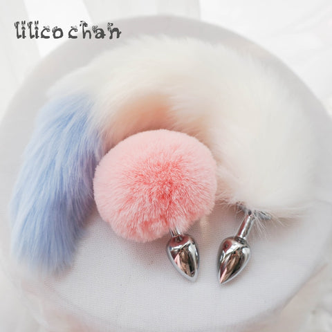Metal Plush Ball Rabbit Plug