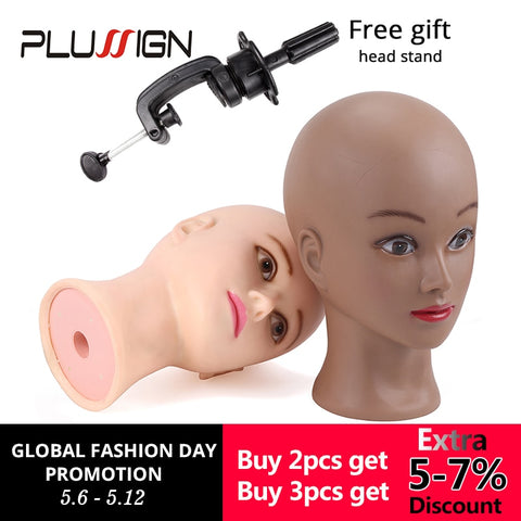 Bald Mannequin Head With Clamp Female Mannequin Head