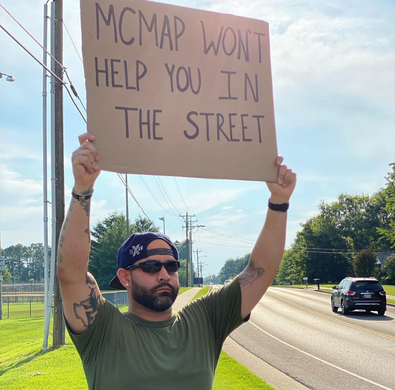 Jay Blancas of Veteran with a Sign Writes it All Out for DD214