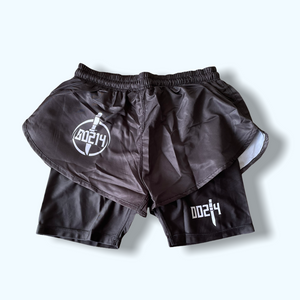 Black Super Silkie 2.0 Style Grappling Shorts