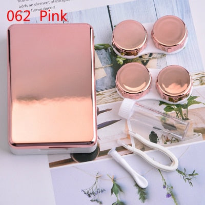 Contact Lens Case With Mirror for Women