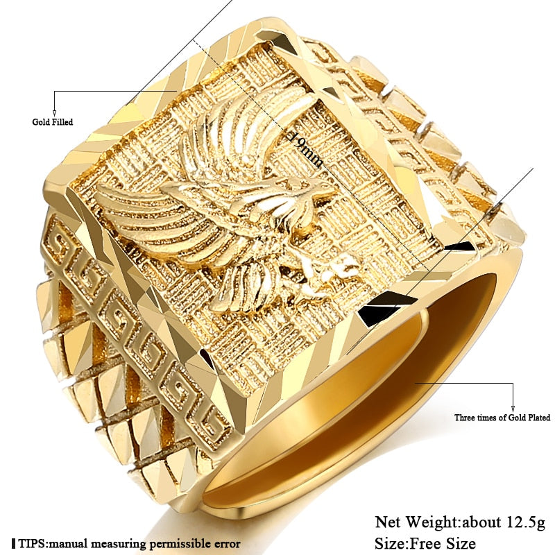 Punk Rock Eagle Men's Ring