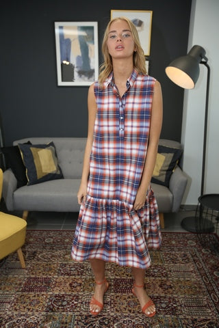 Summer Baby - Lee blue plaid dress