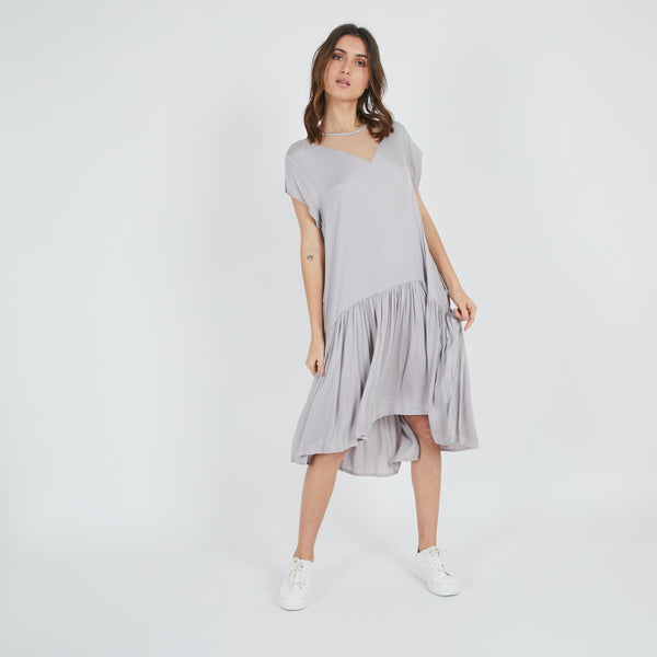 Mia Grey Summer Dress