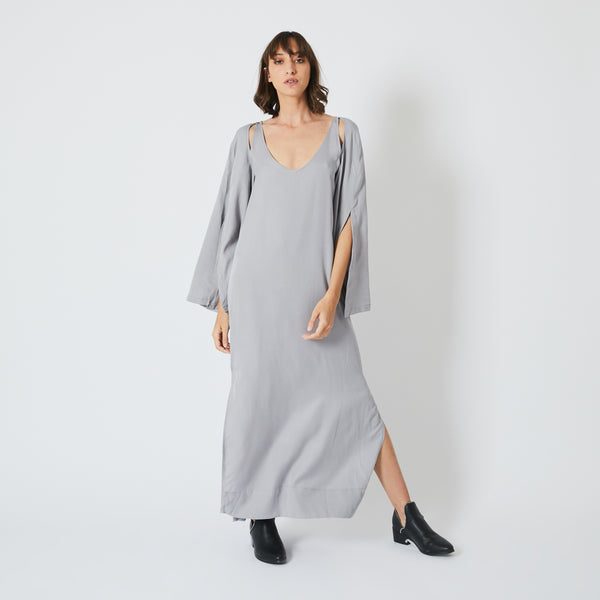 Galabiya Grey Dress