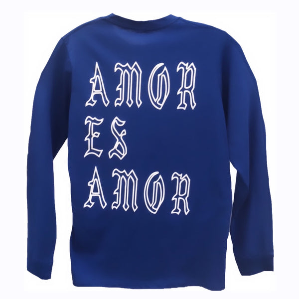 LA Blue Long Sleeve Amor Es Amor