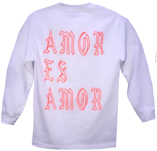 Long Sleeve Amor Es Amor (Florescent Orange)