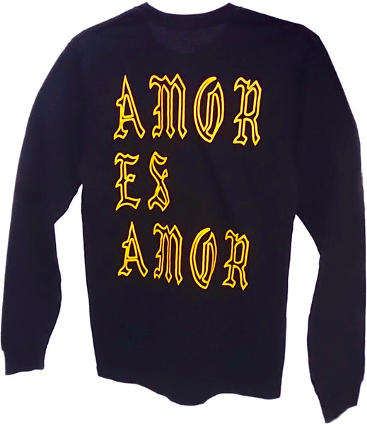 Long Sleeve Amor Es Amor (Black / Laker Gold)