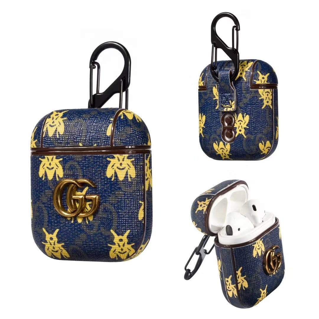 Gucci Airpods 1 2 Leather Case Bee Style Hypedeffect