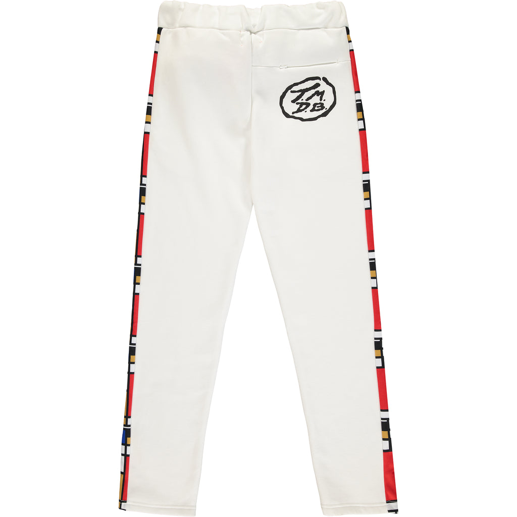 Mondrian Tracksuit Bottoms - White