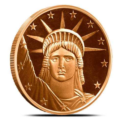 1 oz Copper Statue of Liberty Round