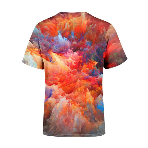 Short Sleeve Abstract Clouds T-Shirt