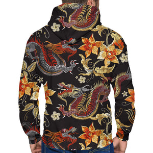 Ancient Dragon Zip-Up Hoodie