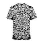 Short Sleeve Black Mandala T-Shirt