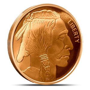 1 oz Copper Round Buffalo Nickel ( 💰Buy 5 Get 1 Free💰 )