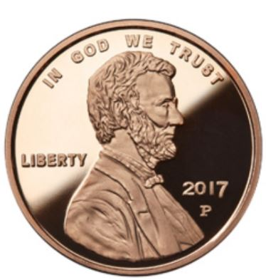 1 Oz Copper round Lincoln Cent
