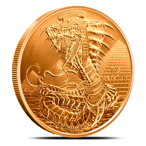 1 oz Copper World of Dragons Series The Egyptian Round