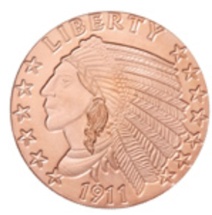 1 oz Copper Round | Incuse Indian