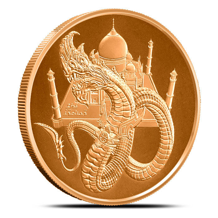 1 oz Copper World of Dragons Series The Indian Round