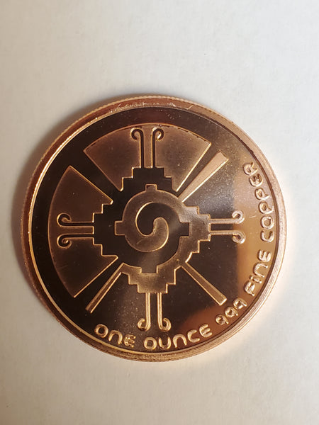 1 oz Mayan Calendar Copper Bullion Round