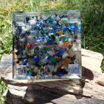 Orgone Pyramid with Blue Quartz, Sodalite, Green Quartz, Malachite, Tigers Eye, Lapis, and Copper