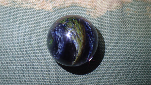 Swirling Marble with White, Black, and Gray Colors: Glass Art