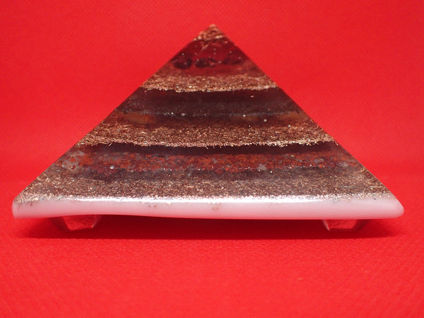Orgone Pyramid with Garnet, Obsidian, Jasper, Carnelian, Quartz and Copper: Red Tint