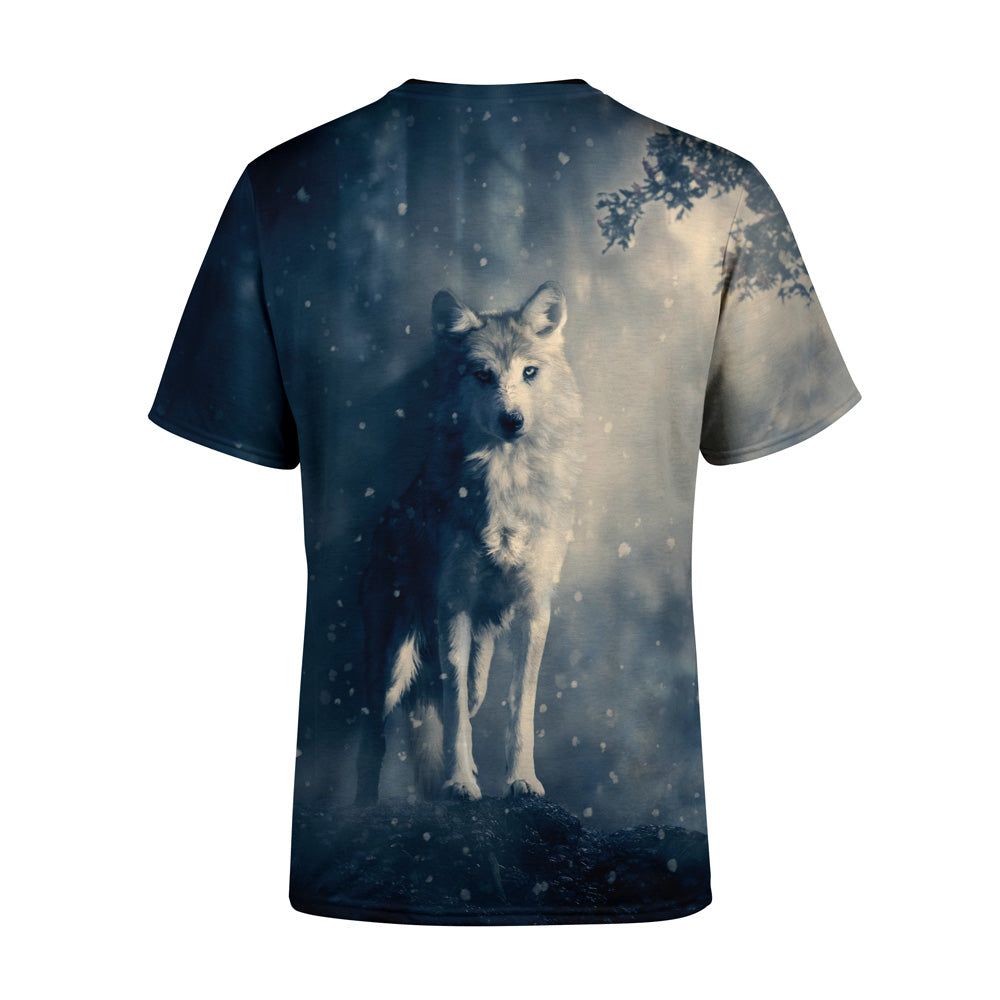 Short Sleeve Snow wolf T-Shirt