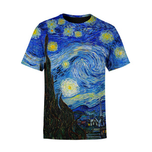 Short Sleeve Starry Night T-Shirt