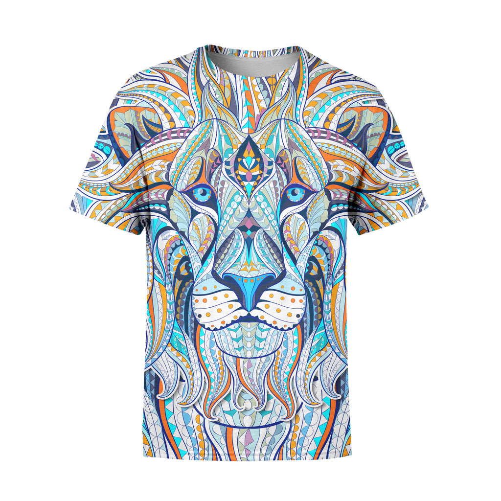 Short Sleeve Tribal Lion T-Shirt