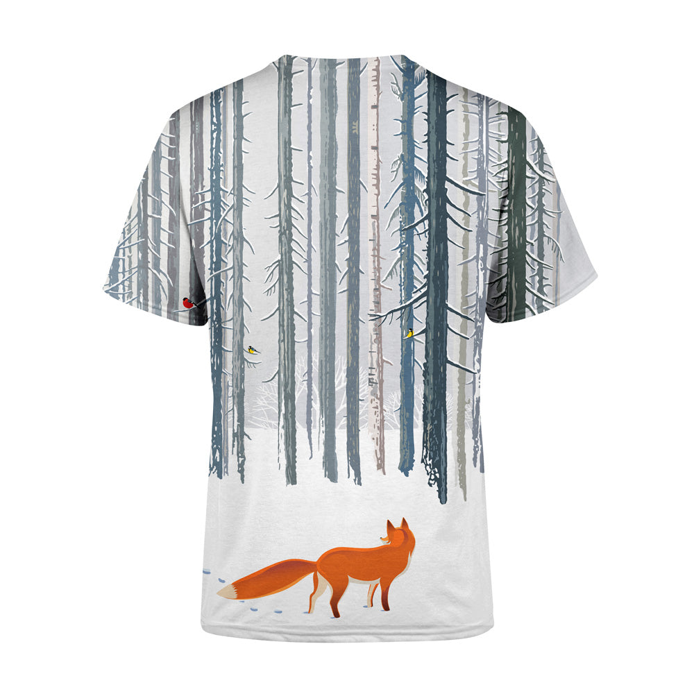 Short Sleeve Winter Fox T-Shirt