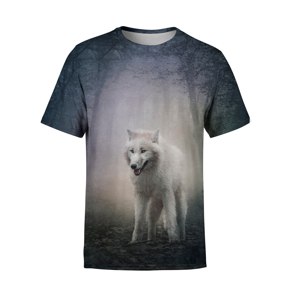 Short Sleeve White Wolf Fox T-Shirt