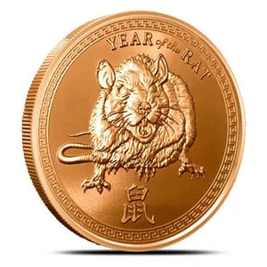 Year of rat Copper Round front