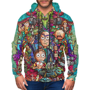 Rick and Morty All Zip-Up Hoodie