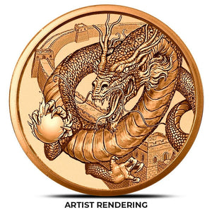 The Chinese Dragon 1 oz Copper Round | World of Dragons Series