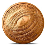 The Norse Dragon 1 oz Copper Round | World of Dragons Series