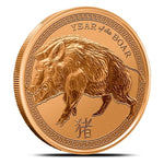 2019 Year of the Boar 1 oz Copper Round
