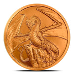 The Welsh Dragon 1 oz Copper Round | World of Dragons Series