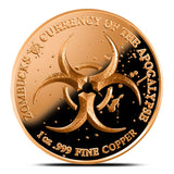 Proof Zombucks The Barber 1 oz Copper Round