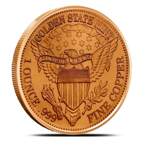 Standing Liberty 1 oz Copper Round